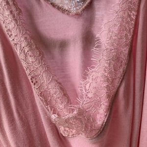 Lane Bryant Tops - Comfortable Pink Lace Tunic